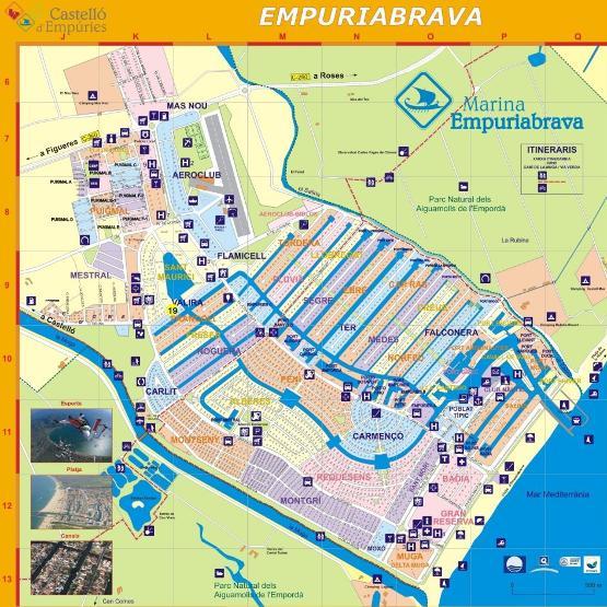 Karte Costa Brava Spanien.Spanien Costabrava Ampuriabrava Ferienhausvermietung Karte Ampi
